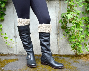 Boot Socks,Boot Cuffs, Boot Toppers, Leg Warmers, Boot Warmers, Boot Liners / THE ALSEAS / oatmeal