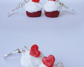 Red velvet cupcakes earrings