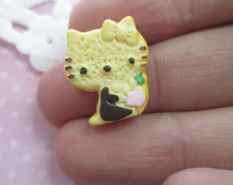 Hello Kitty Cookie Kawaii Cabochons, Cute Decoden Cabs