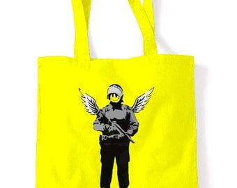 Banksy Winged Copper Shopping Bag