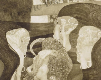"Gustav Klimt  ""Jurisprudence""  1899-1907 Reproduction Digital Print Women Women Bodies Collage"