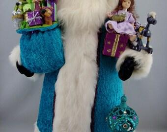 """Glacial Santa- Santa Claus Doll - 22"""" tall"""