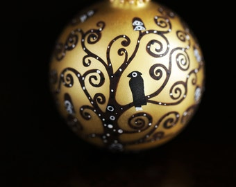 Christmas Ornament  Klimt Hand Painted