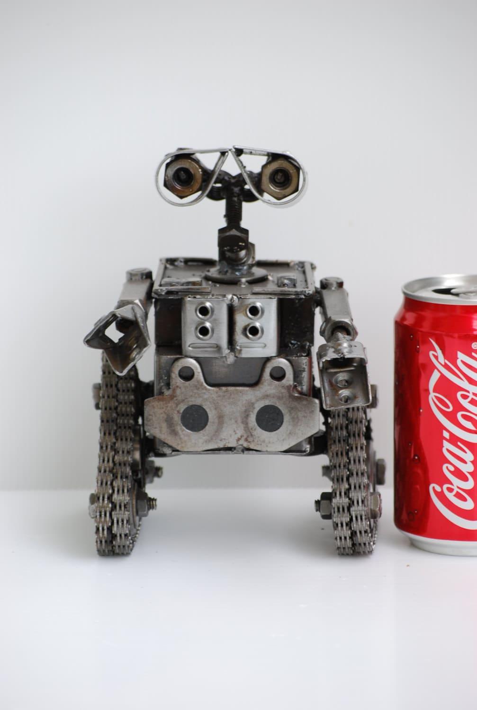 Sculpture metal e robot big recycled handmade art gift for
