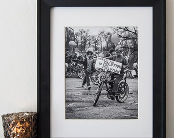 Vintage Black and White Photography Fine Art Print, Here's The Solution To End Pollution
