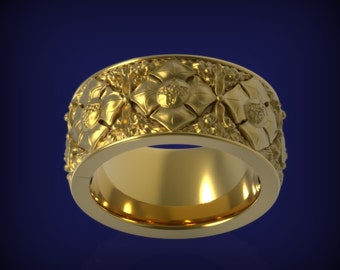 THE GARDEN Ring in 14 KT Yellow Gold