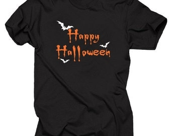 Happy Halloween Bats T-Shirt Halloween Party Costume Tee Shirt