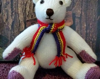 "Mr Cadbury"" Traditional White Teddy Bear"