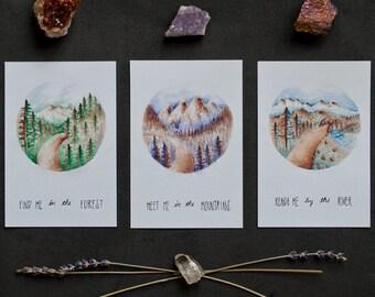 Meet Me Triptych | Prints