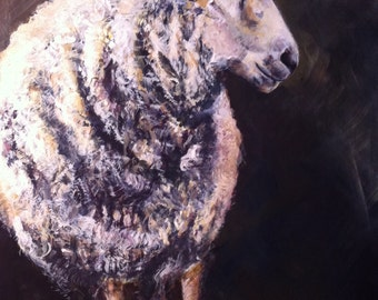 Sweet Sheep  12x16