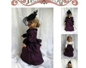 Victorian Walking Ensemble 18in Doll PDF ePattern DOWNLOAD