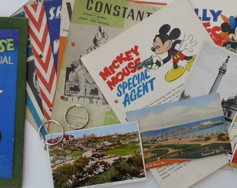 Smash Book, Art Journal, Junk Journal or Scrapbook - 1940s Mickey Mouse Annual
