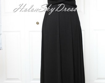Bridesmaid Dress Wrap Convertible Dress black Infinity Dress Maxi Dress