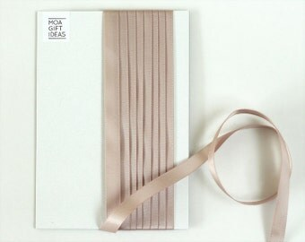 3m Light taupe satin ribbon – 3 metres, 9mm, 3/8 inches