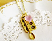 Custom Order for Cassidi - bakers necklace cupcake pan necklace mixing spoon necklace baking jewelry kawaii charm bakers necklace