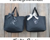 5 Personalized Bridesmaid Gift Tote Bags Monogrammed Tote, Bridesmaid Tote, Personalized Tote Wedding- Initial