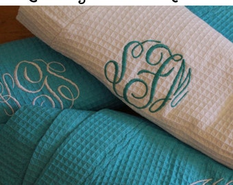 5 Personalized Bridesmaids Robes, Set of 5 ,Monogrammed Robe, Waffle Robe, Personalised Bridesmaid Gifts, Wedding Robes, Getting Ready Robe