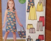 Girls Halter Top Dress Pattern and more - Simplicity 5531 - sizes 3-8