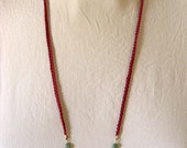 Cotton and Brass Cubes Necklace