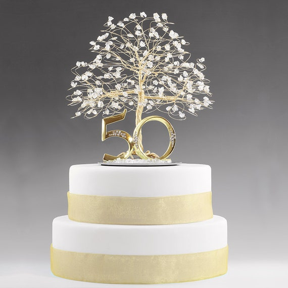 Cake Decoration Ideas For 50th Birthday : 50th Anniversary Cake Topper Gift Decoration Birthday Idea