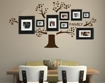 Tree Vinyl Wall Decal Photo Display Familia Art Tree Decals For Photo Frames Tree Wall Decal
