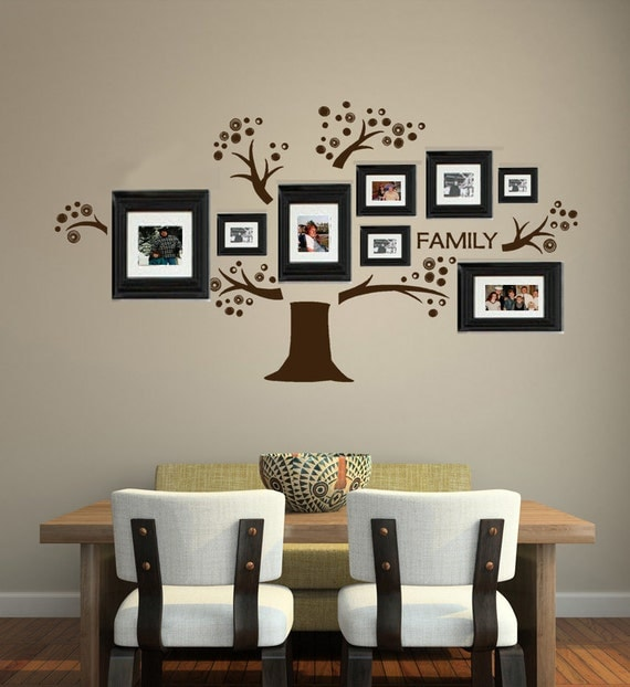 Tree Vinyl Wall Decal Photo Display Familia Art Tree Decals