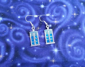 Dr. Who Tardis Earrings - Small