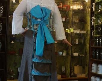 Customisable Linen Pagoda Bustle Skirt