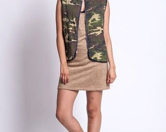 The Vintage Green Camo Army Vest