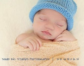 READY TO SHIP Boston Beanies Organic Cotton Blueberry Baby Hat great photo prop