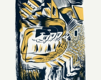 Hollow Feeder, Original Screenprint, Hand-printed, Limited Ed