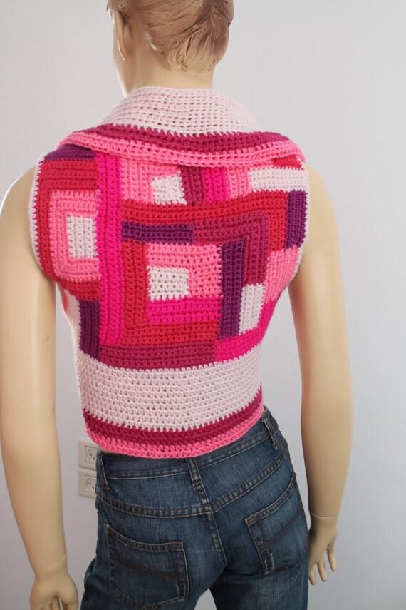 patchwork rosa h keln pixie jacke weste bolero pullover. Black Bedroom Furniture Sets. Home Design Ideas