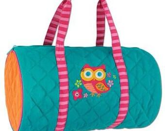 Personalized OWL Duffle Bag Stephen Joseph Kids Duffle Vacation Tote