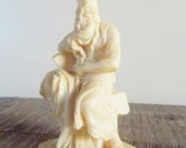 Vintage Bonded Marble Horned Mose Statue