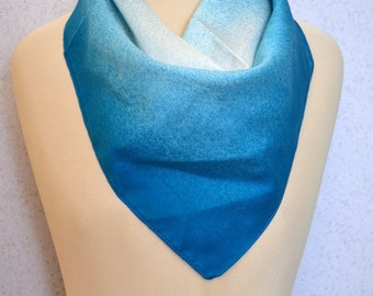 Bright Blue and White Ombre Spray Paint Vintage Square Scarf
