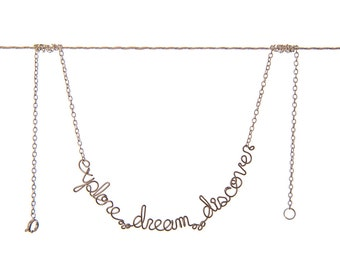 Explore. Dream. Discover. Necklace - Gypsy Quote Jewelry - wanderlust jewelry - wanderlust quote - wanderlust gift - gypsy quote - for her