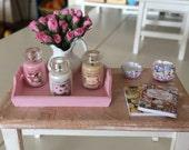 1:12 Scale - GLASS JAR CANDLE - Dollhouse Miniature