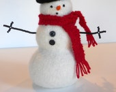 HAND-KNIT. A Woolly Snowman of Your Very Own. My Name is PATRICK.