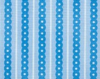 1 Yard Robert Kaufman Blue Chain Link Stripes