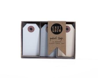 Neutral Parcel Tag Trio Box