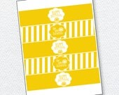 Yellow Sunshine Party PRINTABLE Drink Labels (INSTANT DOWNLOAD) by Love The Day