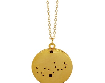 Gold Plated Virgo Locket Necklace