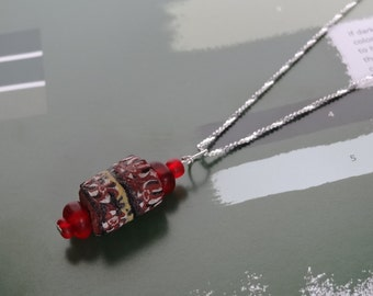 Red African Trading Bead, Pendant Necklace, Antique Venetian Money Beads. Unique Jewelry, Gifts For Her Under 50. African Pendant Necklace