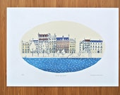 Across the Seine A4 Limited Edition Print