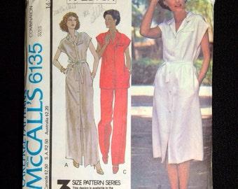 Vintage Halston pattern Bust 36 McCall's 6135 Pantsuit 1970s dress Tunic 1978