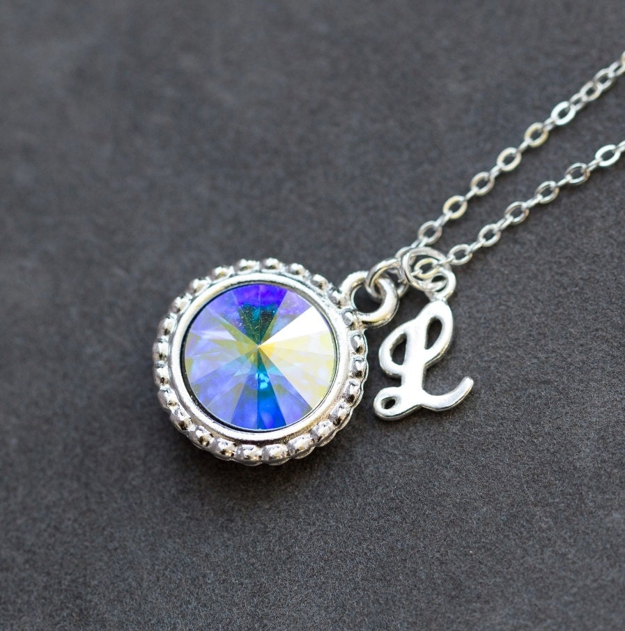Opal Birthstone Necklace October Birthstone Jewelry Opal