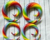 Rainbow Spiral Gauges 8g-00g