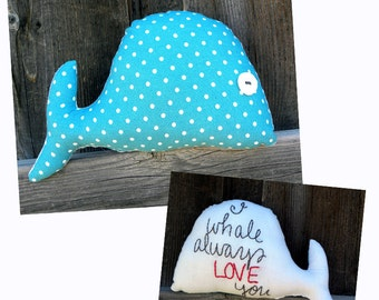 I Whale Always Love You--Small Plush Whale