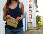 Crochet Pattern Purse Braided PDF - Handbag crochet clutch - Instant DOWNLOAD