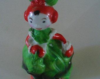 Vintage Hand Painted Porcelain Vegetable Girl Cabbage Leaves Vintage Treasures YourFineHouse